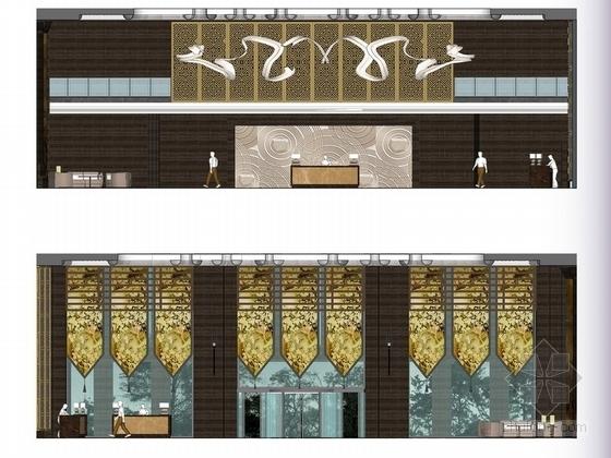 [贵州]新中式超五星级高端酒店室内设计立面图