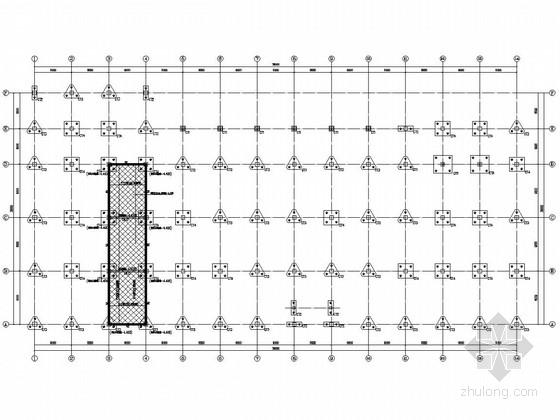 二层厂房建筑结构图资料下载-二层框架结构产业园厂房结构图