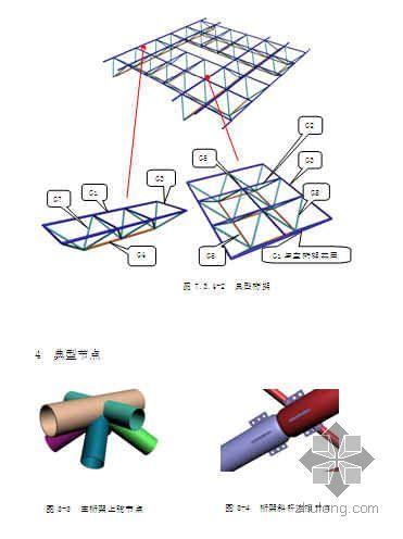 上海某车站无站台雨棚安装方案(树状钢管柱 空间桁架)