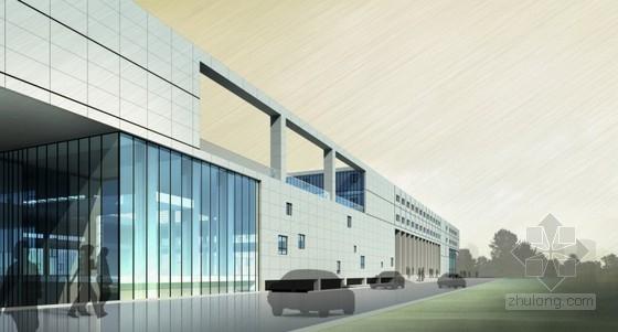 [云南]4层玻璃幕墙结构办公楼建筑设计方案阿迪达斯vi分析设计图片