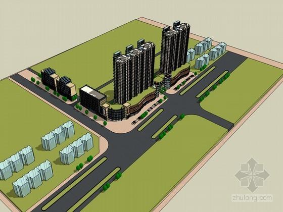 小区临街商业SketchUp模型下载