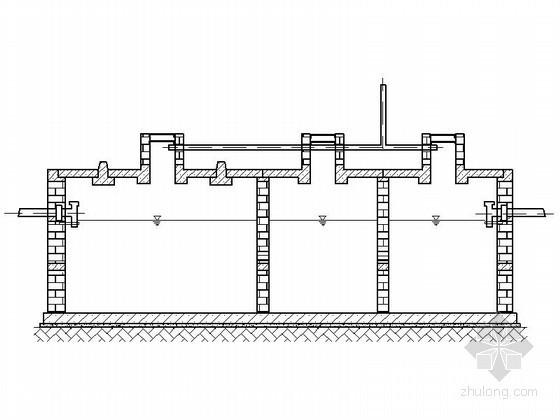 某地砖砌化粪池CAD扩初图