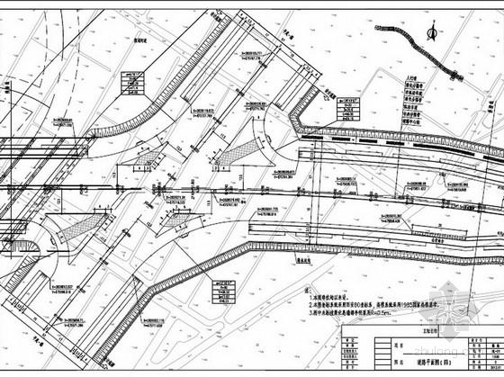 [福建]双向六车道市政公路道路工程施工图设计129张(边坡 辅道)