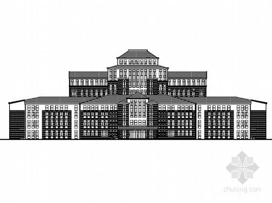[包头]某职业技术学院七层办公楼建筑施工图