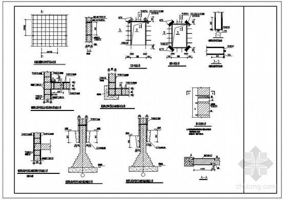 某砖混结构墙体加固节点构造详图