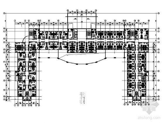 五星级花园酒店平面设计图