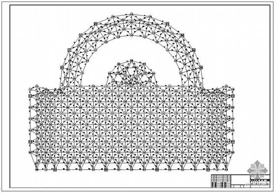 某球型网架结构设计图