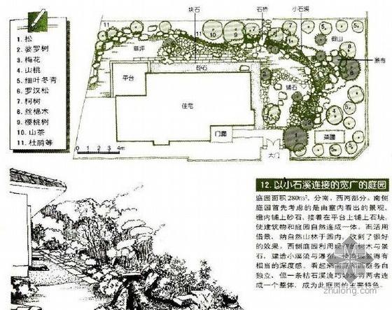 以小石溪相连的宽广庭院景观设计图