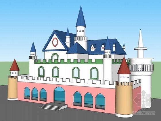 城堡幼儿园SketchUp模型下载