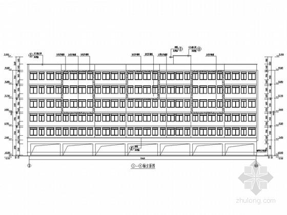 六层底框结构宿舍建筑结构施工图