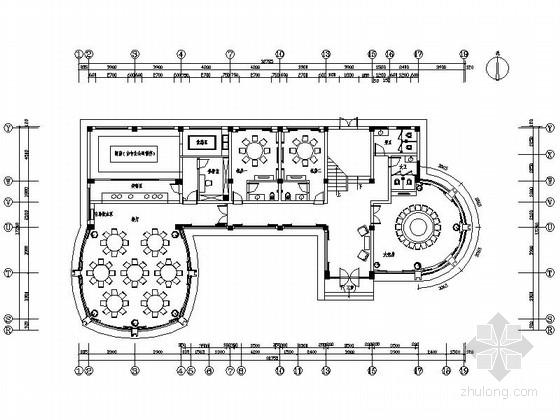 [南昌]县级地质灾害预防中心现代风格附属楼装修施工图(含水电图)