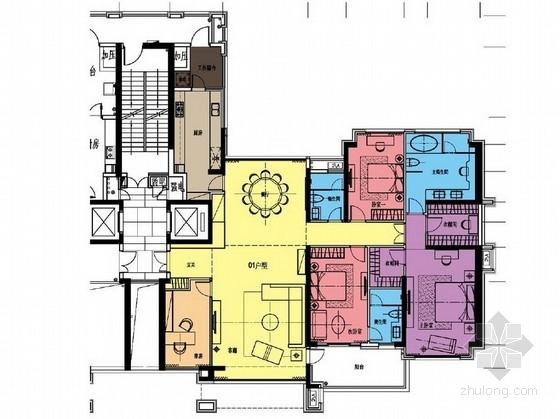 [深圳]花园洋房二期现代销售中心及样板房设计方案平面图
