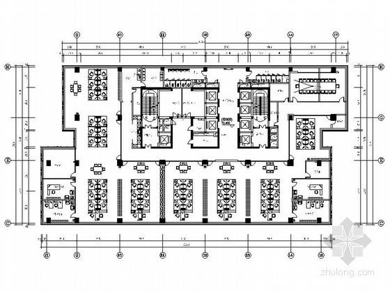 某28层甲级写字楼平面功能布置设计图
