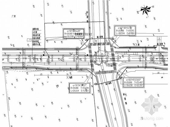 [安徽]城市次干路道路平纵面施工图设计33张