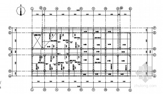 六层框架结构学生宿舍结构施工图