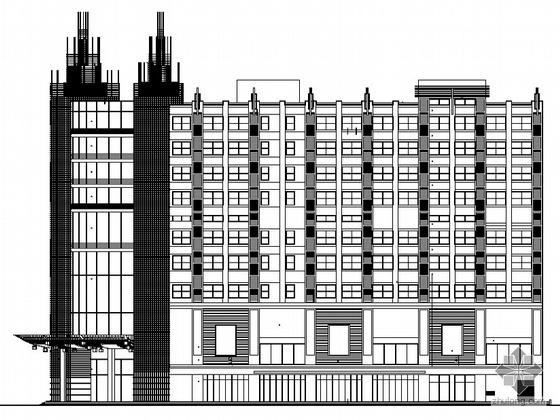 [天津市]某现代国贸中心工程建筑施工套图(酒店办公、高层住宅、地下及群房)