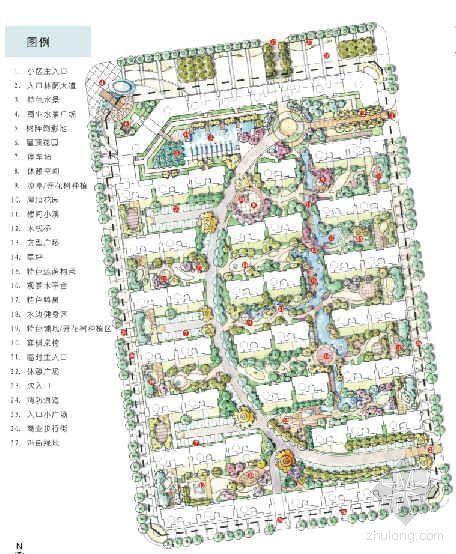 石家庄小区概念性景观设计文本
