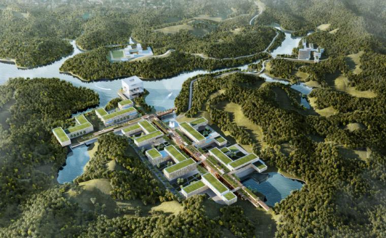 [深圳]华润集团总部产业园区建筑设计方案(两套设计方案)
