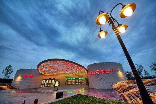 上海地铁迪士尼站今天试运营