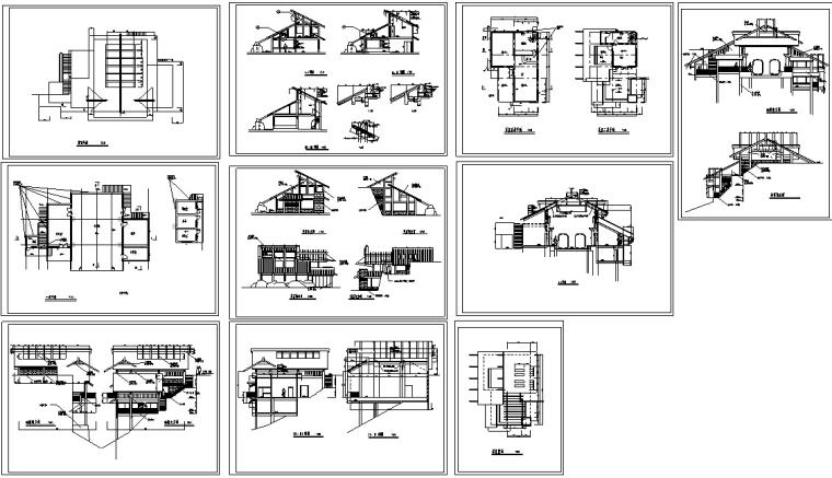 山顶缆车配套茶室建筑设计方案施工图CAD-7
