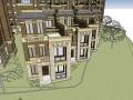 欧式多层住宅SU模型