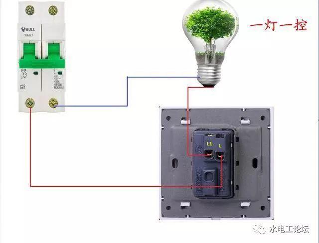 电工知识:一灯单控;双控;三控;四控的实物接线图解,超级赞!图片