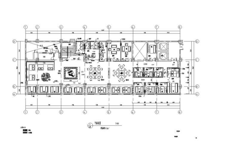 长46.15米宽15.82米百世得咖啡厅装修施工图