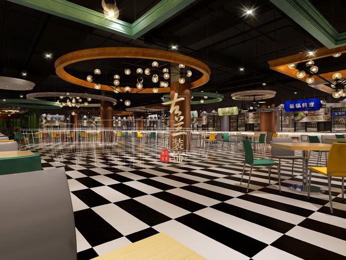 《美食城》-德令哈餐厅装修设计公司,德令哈餐厅设计公司-美食城1.jpg