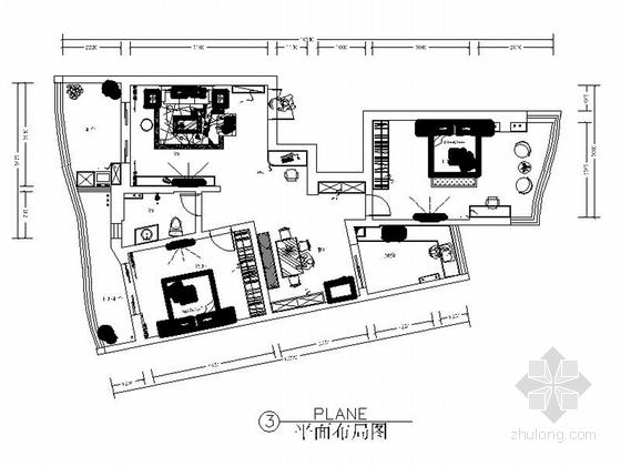 [湖北]135平现代简约风格三居室室内装修施工图