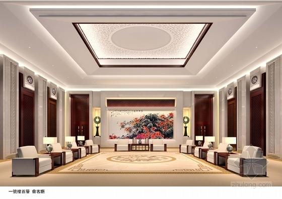 [广东]南方园林特色别墅宾馆改造概念性设计方案会客厅意向图