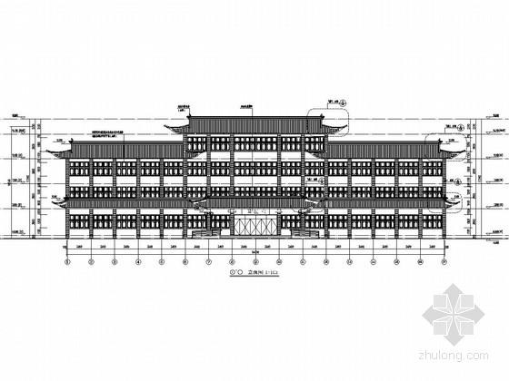 四层框架结构古建中医院国医堂结构施工图(含详细建筑图)