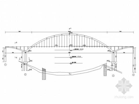 主跨210m飞燕式钢管砼拱桥初步设计套图(28张)