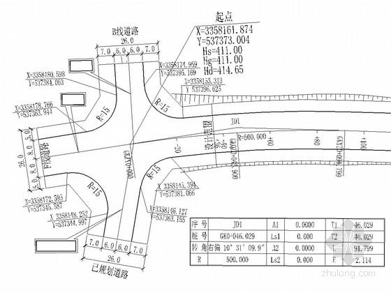 [重庆]城市次干路道路工程施工图设计37张