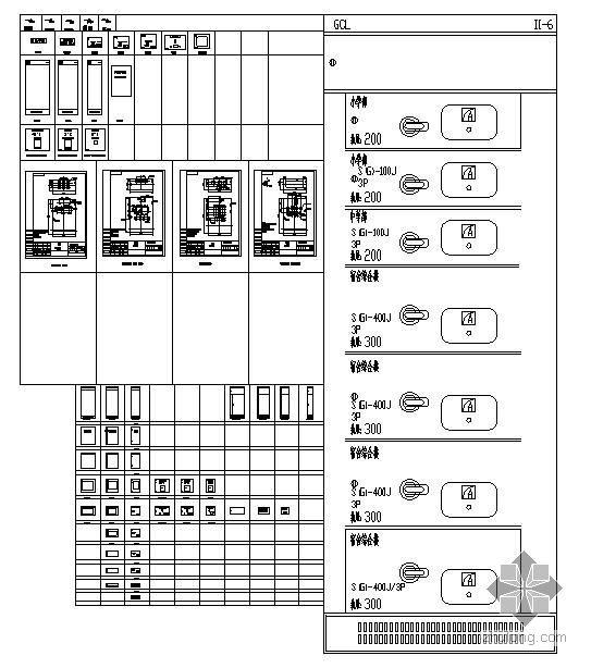 柜体面板标准图块