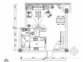 [郑州]清新田园风一居室复式小别墅室内施工图(含效果图)