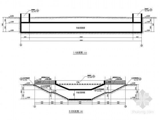 城市钢筋砼框架结构地下过街通道设计施工图(84张 水电暖)