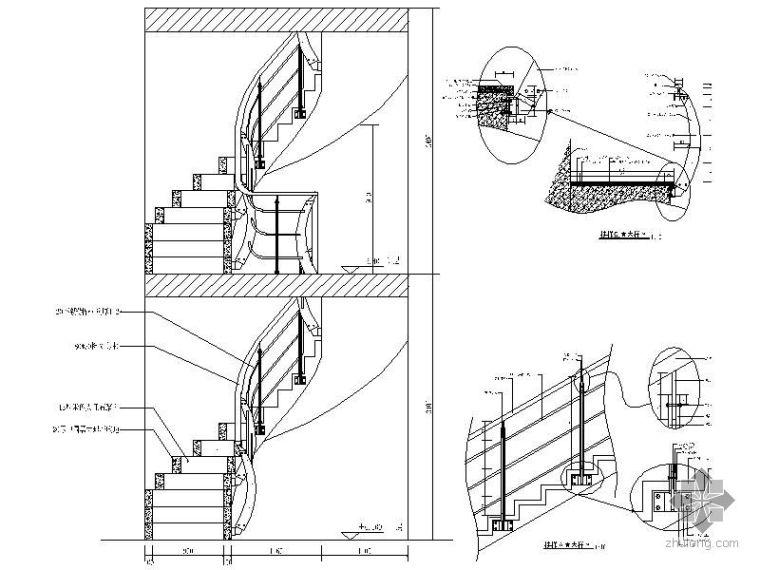 旋转楼梯详图