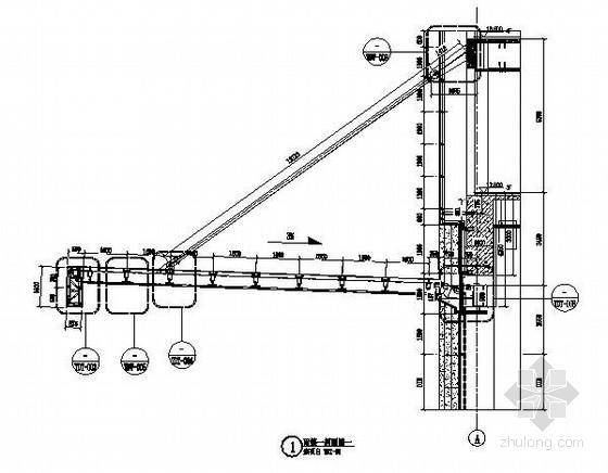 15米钢结构雨蓬结构施工图(含雨篷计算书)
