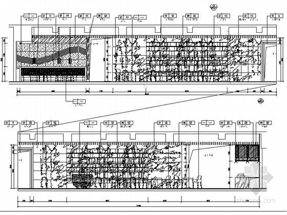 [四川]2.79亿夺标大厦改建四星级高档奢华酒店装修施工图(含方案)西餐厅立面图