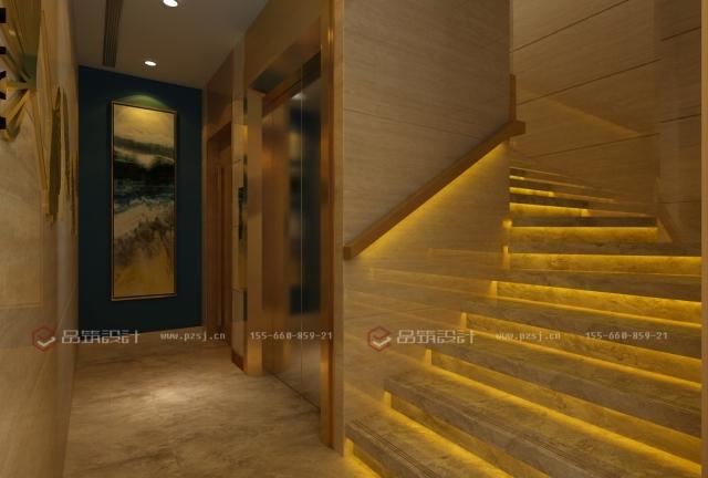 第一次见到这么美的私人办公会所设计效果图-6楼梯间.jpg
