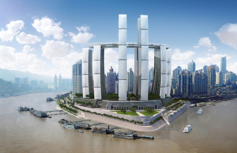 """350米重庆地标建筑""""来福士广场""""已上升至150米,预计明年封顶"""