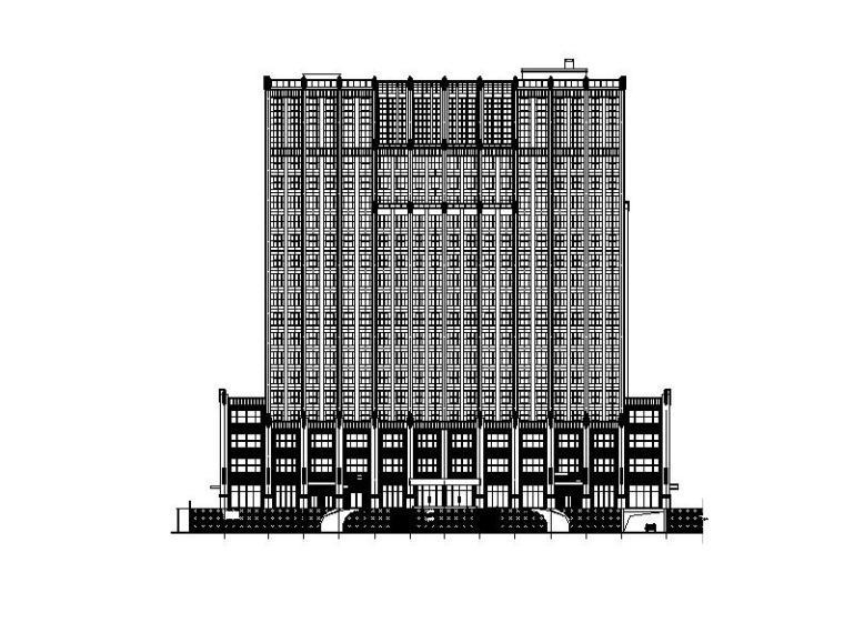 [福建]高层塔式多功能酒店建筑施工图