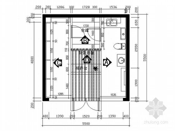 [江西]30平现代照明产品专卖店装修施工图(含效果)