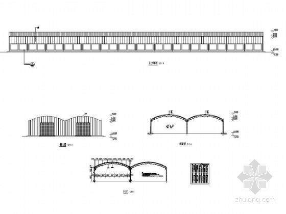 [徐州]钢结构高效种植大棚结构施工图(含建筑图)