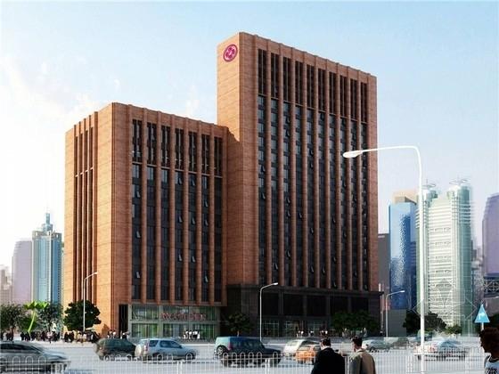 [武汉]17层现代综合医院外装施工图(带效果图)