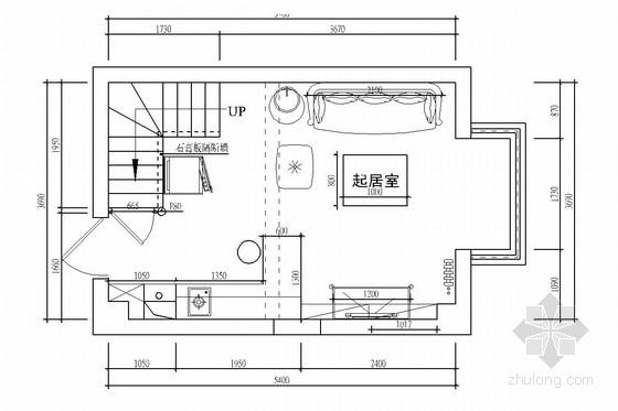 [北京]温馨欧式风格两层复式一居室装修图(含效果图)