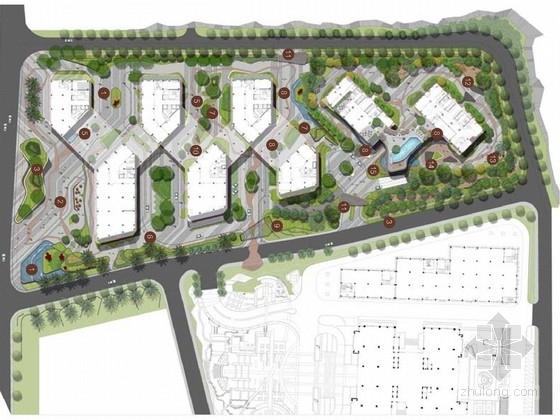 [深圳]多层面品质科技产业园景观规划方案