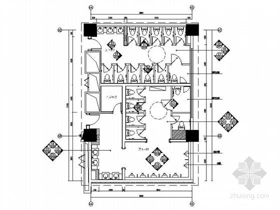 [昆山]五星级酒店卫生间室内装修施工图(含效果)
