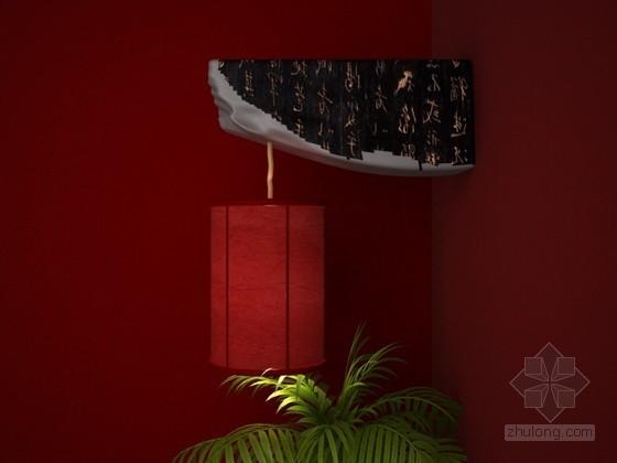 红色装饰灯3D模型下载