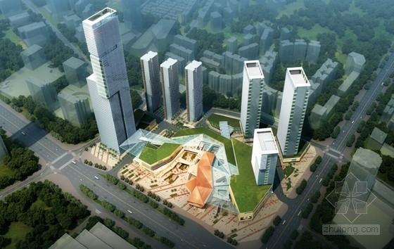 [广东]核心商务区概念总体规划(含310米高塔楼及5A办公区)